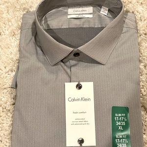 Calvin Klein slim fit dress shirt XL